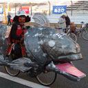 ○ッキーやマリオカートらが新春の富士を駆け抜ける! 大仮装レース「スーパーママチャリGP」