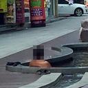 """おっさんの「路上入浴」に非難轟々! 猛暑の韓国で""""裸族""""の奇行が止まらない!!"""