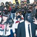 """謎のガスマスク集団が出現!? """"トラウマテクノポップバンド""""アーバンギャルドが渋谷をジャック!"""
