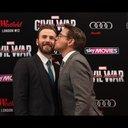 アイアンマンがキャプテン・アメリカにキス!? 『シビル・ウォー』UKプレミア開催