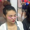 北京騒然! 地下鉄車内に「顔面コンドームペタペタ女」大量発生で大パニック!?