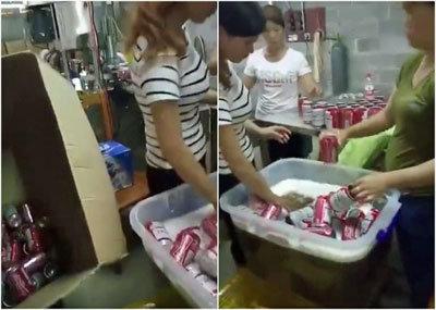 偽バドワイザーにご用心! 中国「偽ビール製造工場」の内部映像が流出の画像1