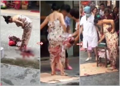 買い物中の妊婦が路上で立ち出産→赤ちゃんを抱えて、そのまま徒歩で帰宅するの画像1