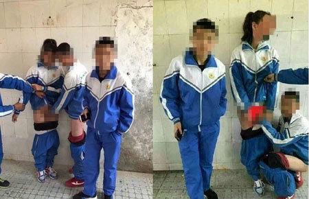 女子生徒の下半身に手を入れ、ハイポーズ! 中国で青少年の性の乱れが深刻化の画像1